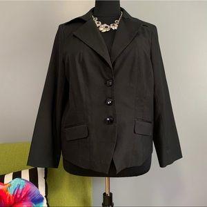 Lane Bryant Black Blazer Jacket with White Dot